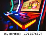gambling machine at casino club.... | Shutterstock . vector #1016676829