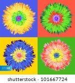 pop art flower  vector eps 10...