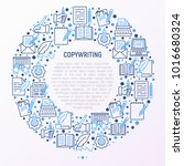 copywriting concept in circle... | Shutterstock .eps vector #1016680324