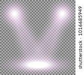 vector spotlight  light effect... | Shutterstock .eps vector #1016685949
