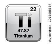 titanium symbol.chemical... | Shutterstock .eps vector #1016688559