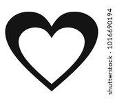 huge heart icon. simple... | Shutterstock . vector #1016690194