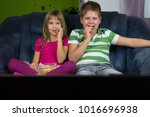 children are looking at the... | Shutterstock . vector #1016696938