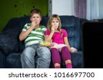 children are looking at the... | Shutterstock . vector #1016697700