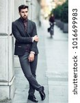 young bearded man  model of... | Shutterstock . vector #1016699983