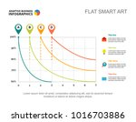 four analysis line charts slide ... | Shutterstock .eps vector #1016703886
