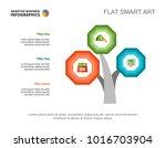 three tree branches plan slide... | Shutterstock .eps vector #1016703904