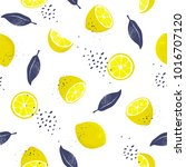seamless pattern with slices... | Shutterstock .eps vector #1016707120