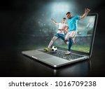 caucassian soccer players in...   Shutterstock . vector #1016709238