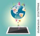 world earth apps  internet... | Shutterstock .eps vector #1016709466