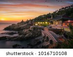 yonggungsa temple on the beach... | Shutterstock . vector #1016710108