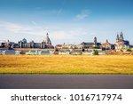 dresden cityscape in morning.... | Shutterstock . vector #1016717974
