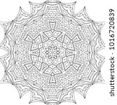 adult coloring page. black and... | Shutterstock .eps vector #1016720839