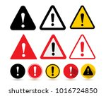 set of the attention icon.... | Shutterstock .eps vector #1016724850