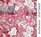 tracery seamless pattern.... | Shutterstock .eps vector #1016726620