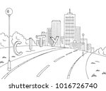 street road graphic black white ... | Shutterstock .eps vector #1016726740