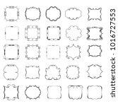 set of vector vintage frames on ... | Shutterstock .eps vector #1016727553