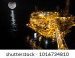 offshore the night industry oil ... | Shutterstock . vector #1016734810