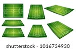 soccer  european football field ... | Shutterstock .eps vector #1016734930