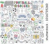 association football or soccer... | Shutterstock .eps vector #1016735260