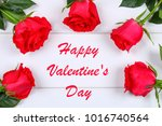 card for valentines day with... | Shutterstock . vector #1016740564