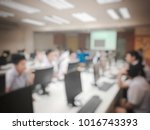 blurred image of the student... | Shutterstock . vector #1016743393