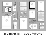 corporate identity template set.... | Shutterstock .eps vector #1016749048