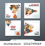 banner design. square abstract... | Shutterstock .eps vector #1016749069