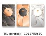luxury banner template set | Shutterstock .eps vector #1016750680