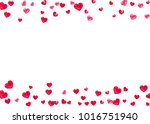 valentine day border with red... | Shutterstock .eps vector #1016751940