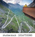 famous trollstigen road in... | Shutterstock . vector #1016753380