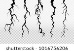 set of crack in surface. rift... | Shutterstock .eps vector #1016756206
