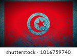 tunisia flag painted on... | Shutterstock . vector #1016759740