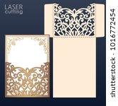 die laser cut wedding... | Shutterstock .eps vector #1016772454