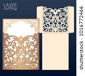 die laser cut wedding... | Shutterstock .eps vector #1016772466