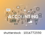 accounting word surrounded by... | Shutterstock .eps vector #1016772550
