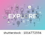 explore word surrounded by... | Shutterstock .eps vector #1016772556