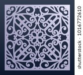 laser cut decorative panel with ... | Shutterstock .eps vector #1016772610