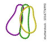 mardi gras beads vector symbols.... | Shutterstock .eps vector #1016776993
