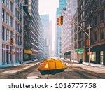 3d rendering. wanderlust in a... | Shutterstock . vector #1016777758