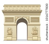 illustration of triumphal arch... | Shutterstock . vector #1016777830