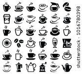 coffee icon collection   vector ...   Shutterstock .eps vector #1016780398