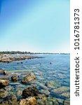 wonderful beach of the island... | Shutterstock . vector #1016781373