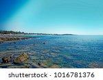 wonderful beach of the island... | Shutterstock . vector #1016781376