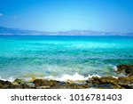 wonderful beach of the island... | Shutterstock . vector #1016781403