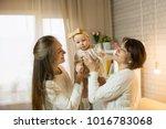 grandmother mum and...   Shutterstock . vector #1016783068