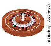 isometric european roulette...   Shutterstock .eps vector #1016784184