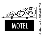 vector illustration motel... | Shutterstock .eps vector #1016784238