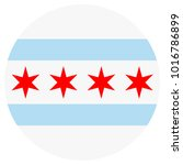 vector icon chicago flag.... | Shutterstock .eps vector #1016786899