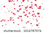 red and pink heart. valentine's ... | Shutterstock . vector #1016787076